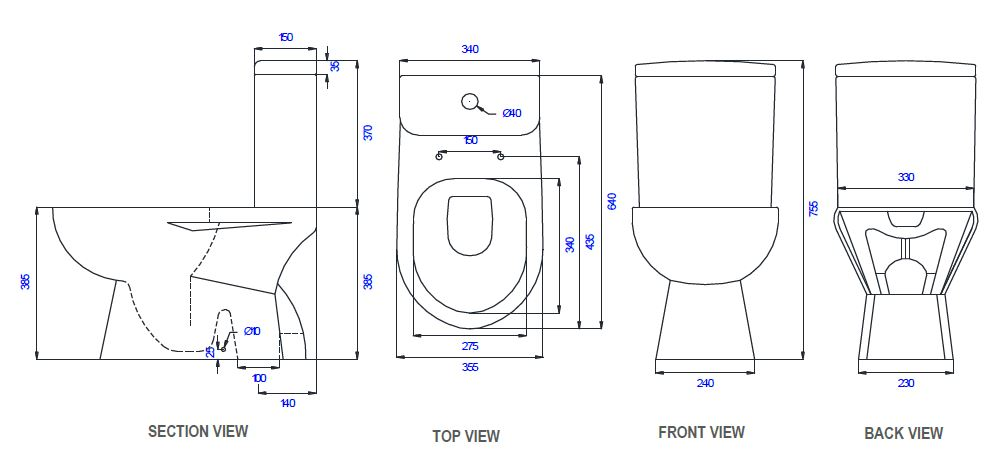 Saniton Limonium ST2020 SC3000 features toilet bowl city singapore