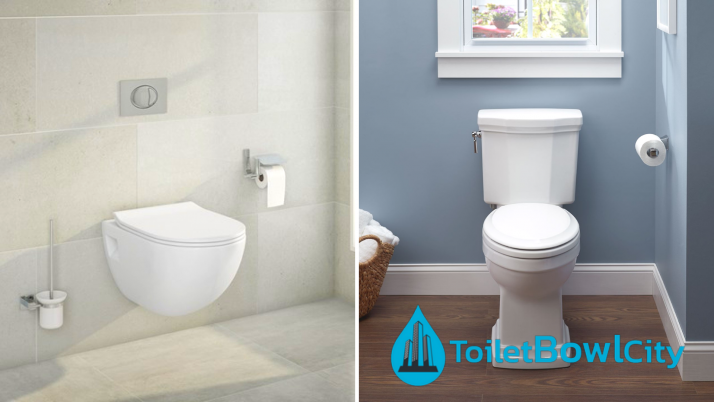 Difference Between a Wall Mounted Toilet and a Floor Mounted Toilet